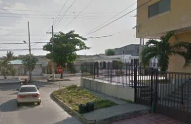 Foto del barrio Los Nogales en donde ocurrieron los hechos.