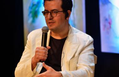 El autor libanés Hisham Mattar durante su conversatorio ayer en el Hay Festival.