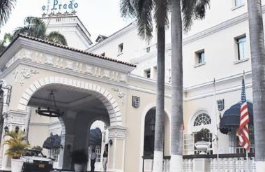Entrada principal del hotel.