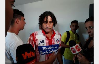 Jorge Bolaño durante un partido de exhibición en Puerto Colombia.