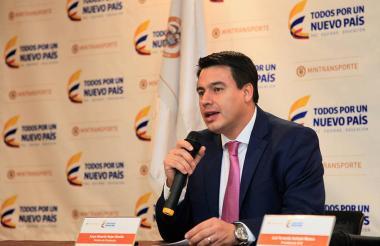 José Eduardo Rojas, ministro de Transporte.