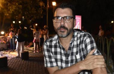 El escritor chileno Alberto Fuguet, en el Hay Festival 2017, realizado en Cartagena.