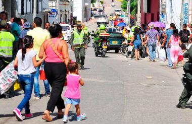Aspecto de la ciudad de Sincelejo en un Día sin moto.