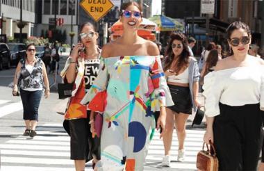 Diseños de la marca cartagenera Cocco Allé durante la Semana de la Moda de Nueva York en 2015.