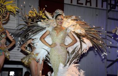 Nicolle Pájaro, reina del Carnaval de Soledad, luego de su coronación.