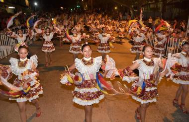 La Banda de Baranoa en uno de los desfiles realizados en el Carnaval de Barranquilla.