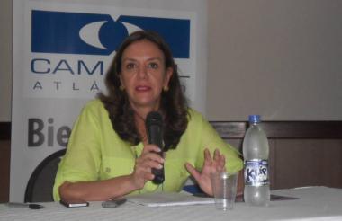 María Elia Abuchaibe, gerente de Camacol Atlántico.