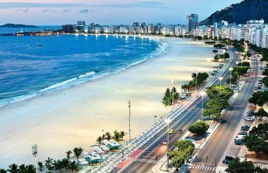 Playa de Copacabana en Río de Janeiro, Brasil.