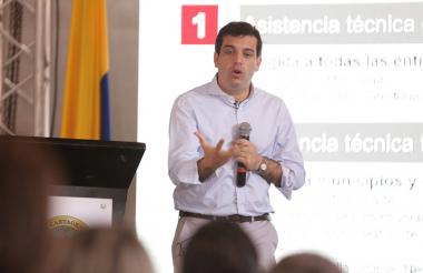 Simón Gaviria, durante la presentación.