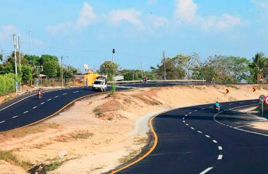 La inaugurada moderna vía Sincelejo - Sampués.