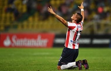 Michael Rangel ha festejado un gol con Junior este año. Se lo anotó al Carabobo.