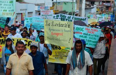 La marcha recorrió las principales calles de Sincelejo.