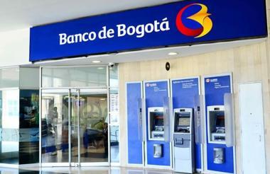 Fachada del Banco de Bogotá en Barranquilla.