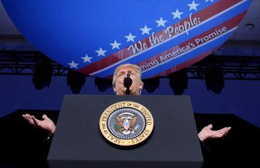 El presidente Trump este viernes durante la Conferencia Anual de Acción Política Conservadora.