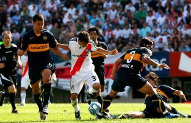 Partido del Clásico Boca Juniors vs River Plate.