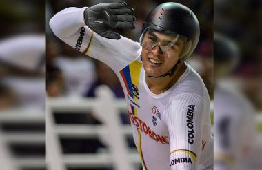 El paisa Fabián Puerta tras ganar el oro en Cali.
