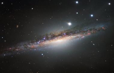 La galaxia espiral NGC 1055.