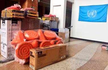 Kits que utilizarán los observadores de la ONU.