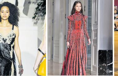 Colección del diseñador francés Nicolás Ghesquiere para Louis Vuitton. Vestido del diseñador Valentino y por John Galliano.