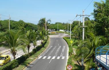 Vista aérea del Corredor Universitario de Puerto Colombia.