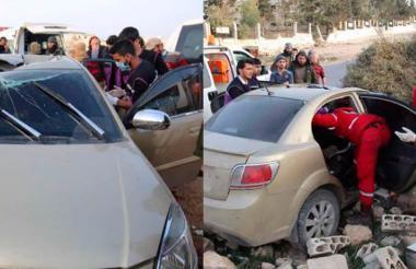 Así quedó el vehículo en el que se desplazaba Qasem Jalil al momento del ataque con dron.