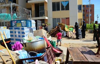 Aspecto del desalojo realizado este viernes en Valledupar.