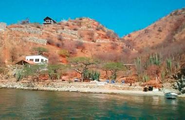 Playa Rosita, balneario donde ocurrieron los hechos en Taganga.