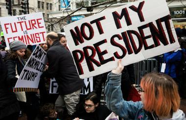 La posesión de Donald Trump, el pasado 20 de enero, provocó multitudinarias manifestaciones en EEUU y el mundo.