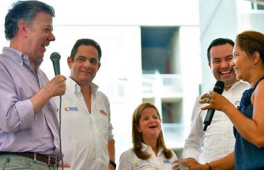 El presidente Juan Manuel Santos y Germán Vargas Lleras han aparecido juntos en las últimas entregas de obras durante la gira de despedida del vicepresidente.