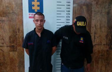 Ricardo Molina Alarcón, capturado por extorsión.