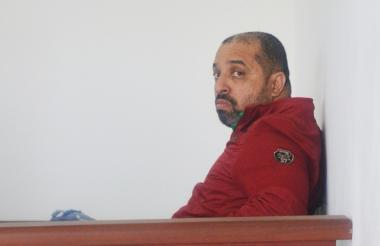 Cristian Rymel Yurgaky Rey, durante una de las audiencias de la semana anterior.