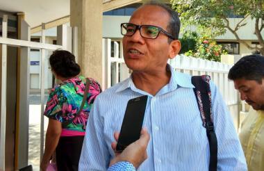 Édison Lucio Torres, al llegar a la Fiscalía.