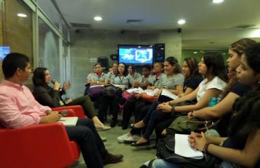 Primer encuentro del año del conversatorio 'Hablemos de Gabo'.