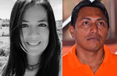 Los peticionarios la abogada Carolina Sáchica Moreno y el líder indígena de la Asociación Shipia Wayuu Javier rojas.