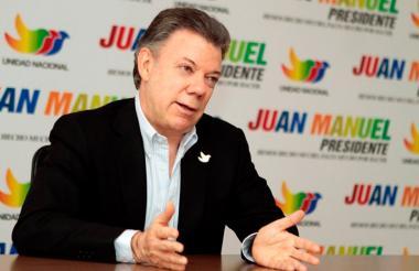 Juan Manuel Santos durante la campaña a la presidencia en 2010.