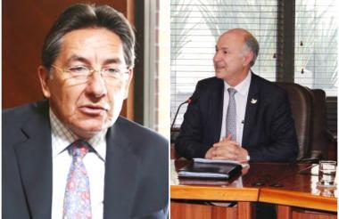 Néstor H. Martínez (i) y Enrique Gil Botero (d).