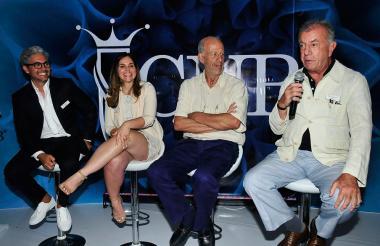 Mickey Fábrega (Panamá), María Carrasquilla (Puerto Rico), Federico Santiago (Perú) y Rodrigo Rivero (México) son las personas encargadas de escoger a la nueva Señorita Colombia.