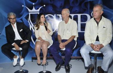 Los jurados Miky Fábrega, María Carrasquillo, Federico Santiago y Rodrigo Rivero.