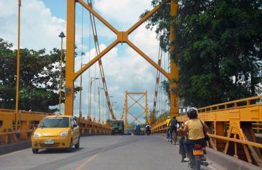 El puente Gustavo Rojas Pinilla, en Montería.