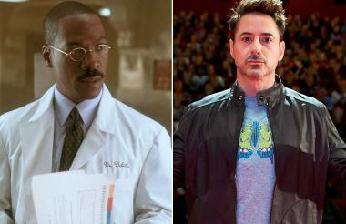 El actor Eddie Murphy, quien anteriormente interpretaba el papel del doctor y Robert Downey Jr.