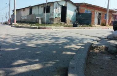 Sector del barrio Sourdís, donde se presentó el hecho de sangre.
