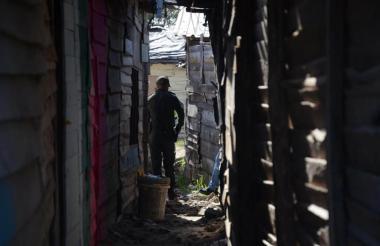 Sector del barrio La Bendición de Dios, donde fue encontrado el pasado jueves el cuerpo del decapitado.