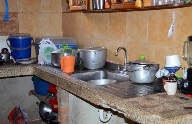 La cocina de una vivienda en Valledupar, Cesar.