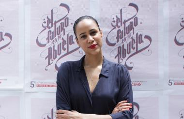 La actríz Zawedde Ashton durante el Festival de Cine de Barranquilla.