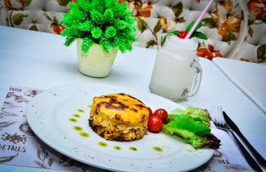 Así luce el pastel de pescado del restaurante Atlantic Snacks & Healthy Food.