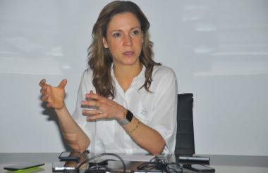 María Claudia Lacouture, ministra de Comercio.