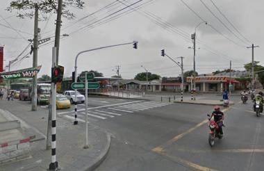 Calle 45 con carrera 8, sector por donde ocurrieron los hechos.