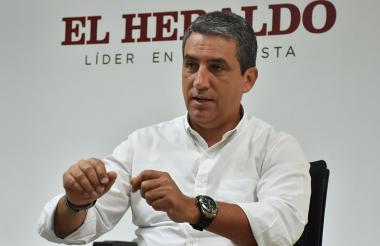 Fernando Jaramillo, vicepresidente de asuntos corporativos de Bavaria, durante su visita a EL HERALDO habló sobre las ventas de la compañía.