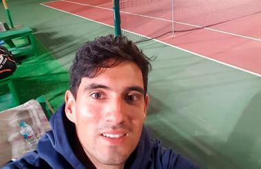 El tenista barranquillero José Bendeck, en Sharm el-Sheij.