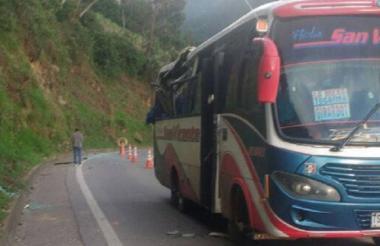 Caracol Radio publicó una imagen del accidente ocurrido la tarde de este sábado.